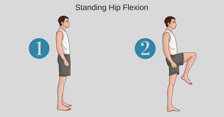 standing hip flexion test