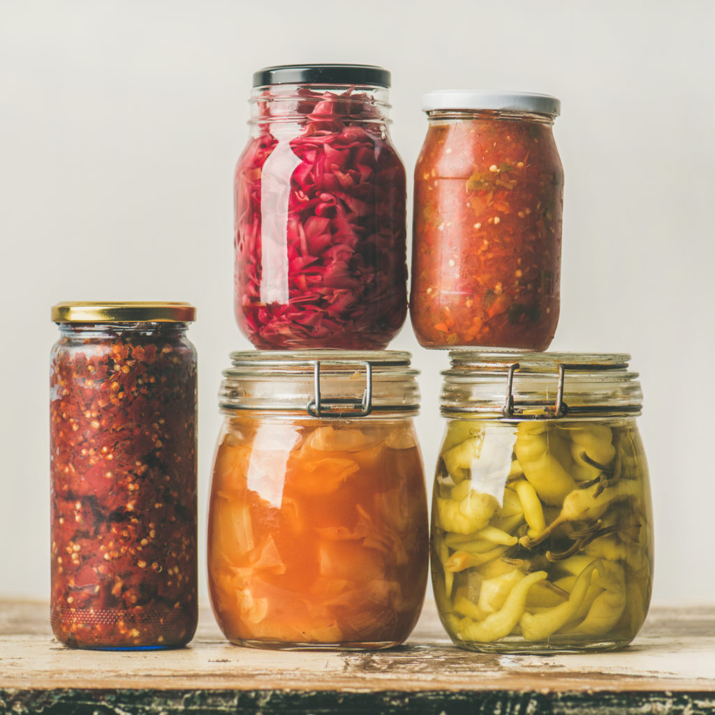 A good leaky gut diet included fermented foods like these pickled veggies
