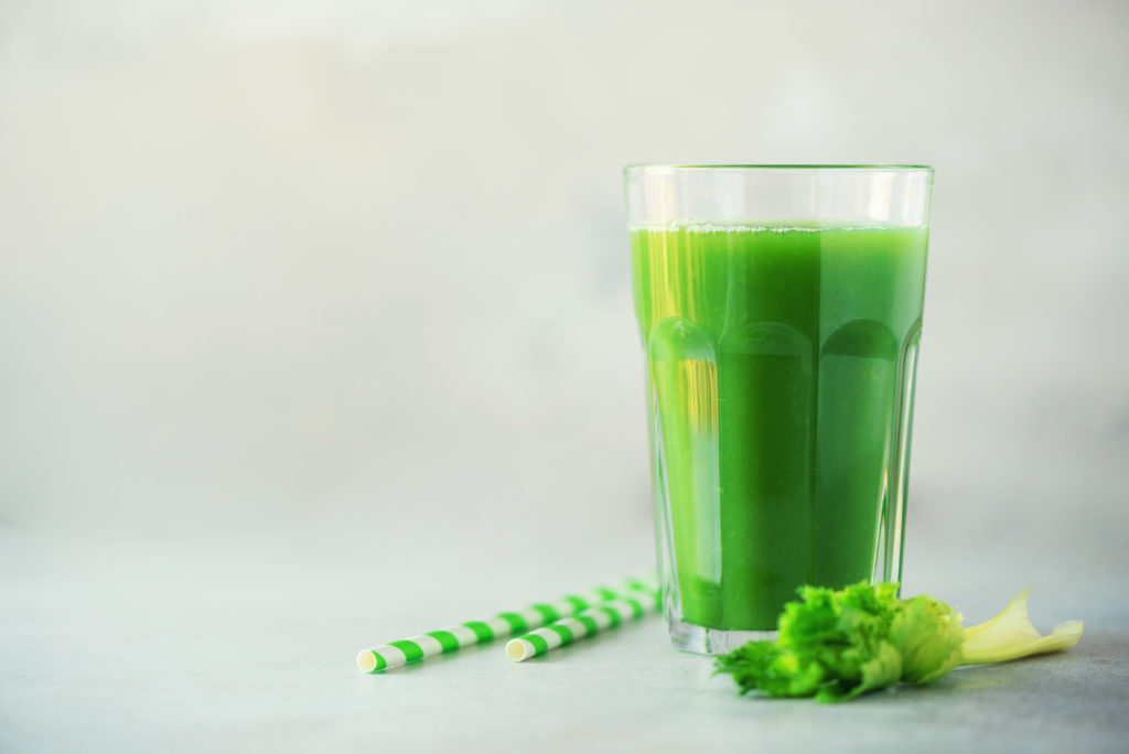 Celery juice helps prevent and treat keto flu due in part to its high salt content.